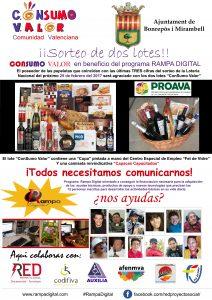 Cartel Sorteo colocado en Comercios y Empresas del municipio de Bonrepos i Miranbell