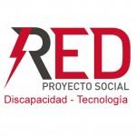 Logotipo RED Proyecto Social. Discapacidad tecnologia