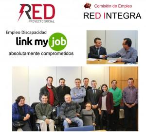 Red Integra y Link My Job momentos del acto firma convenio