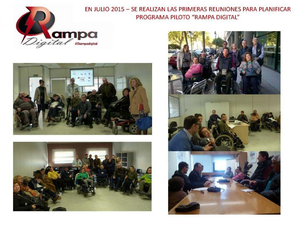 Reuniones de RED Proyecto Social. Programa Rampa Digital