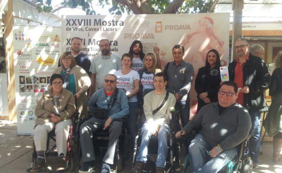 Miembros del equipo organizador de la Mostra con entidades participantes en el programa RAMPA DIGITAL