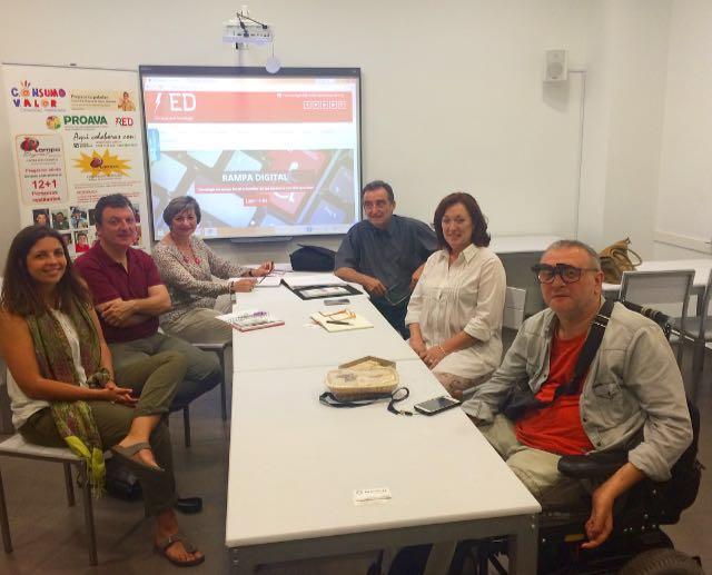 Reunión con Centros Especiales de Empleo. Proyecto Empleo Tecnologico con apoyo Sede Fundación AFIM