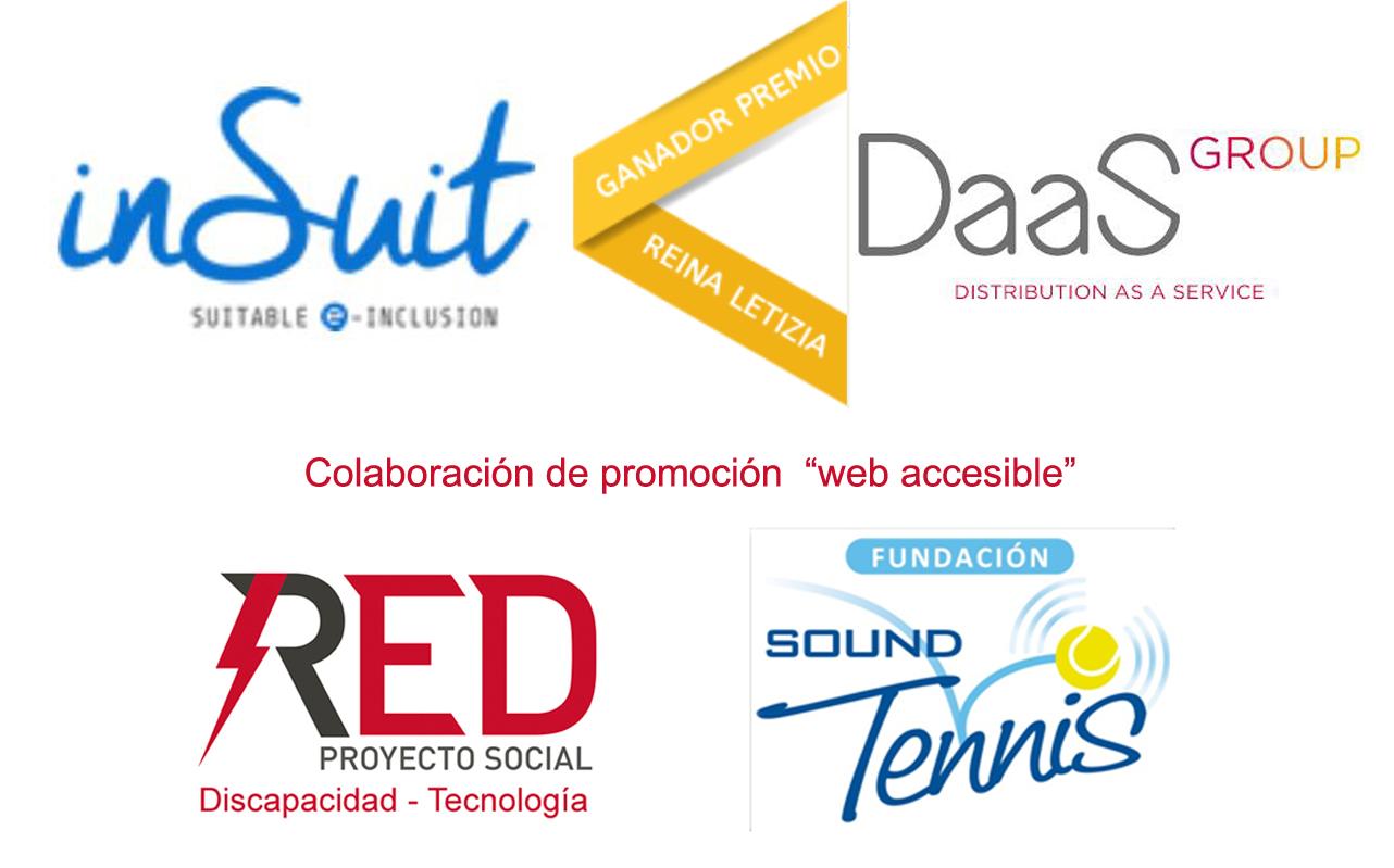 InSuit Premio Reina Letizia. colaboran en la promoción de la web accesible RED Proyecto Social y la Fundación .Sound Tennis