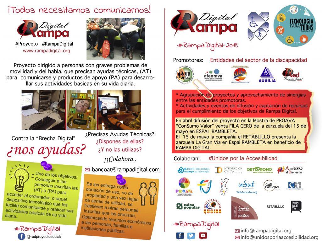 """Proyecto 2018 RAMPA DIGITAL -( DESCARGAR y Compartir """"Colabora"""")"""