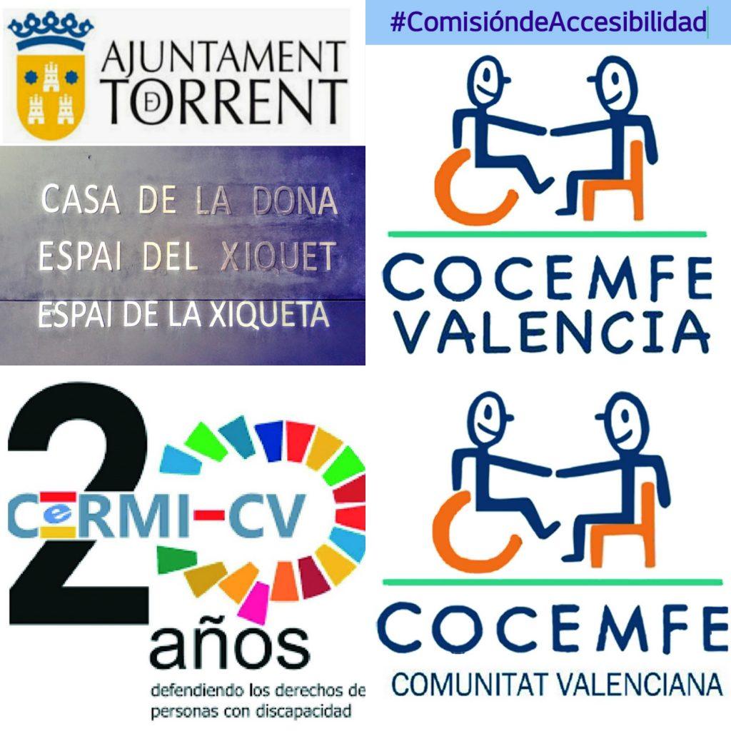 Cartel Ayuntamiento de TORRENTE CERMI CV COCEMFE CV y Comisión de Accesibilidad de COCEMFE Valencia