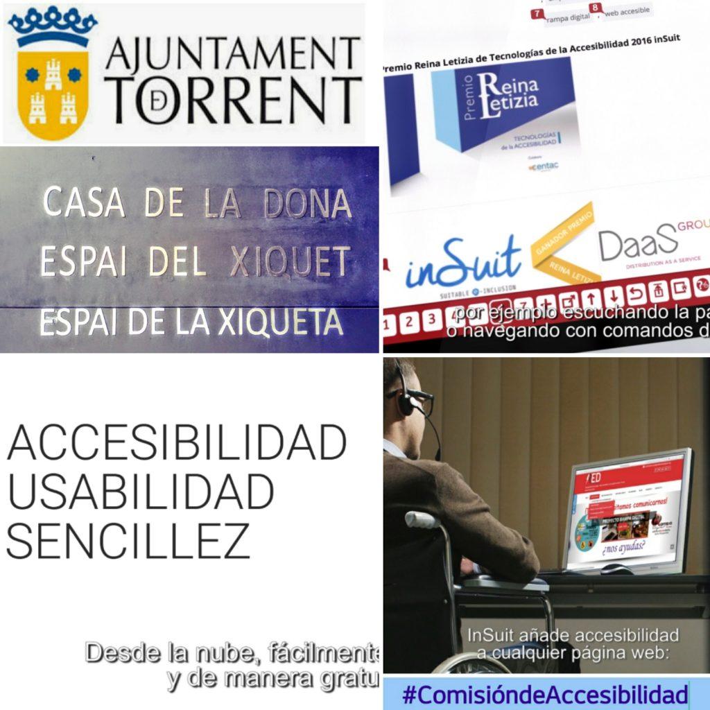 Acto Unidos por la Accesibilidad en Casa la Donna de Torrent inSuit y proyecto Rampa Digital