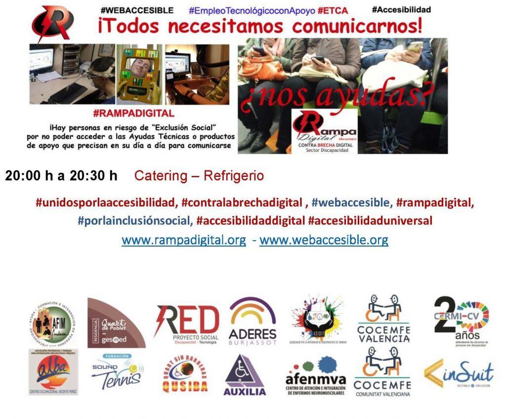 Cartel de proyecto RAMPA DIGITAL ¡TODOS NECESITAMOS COMUNICARNOS y las entidades que de una manera u otra promueven el proyecto RAMPA DIGITAL