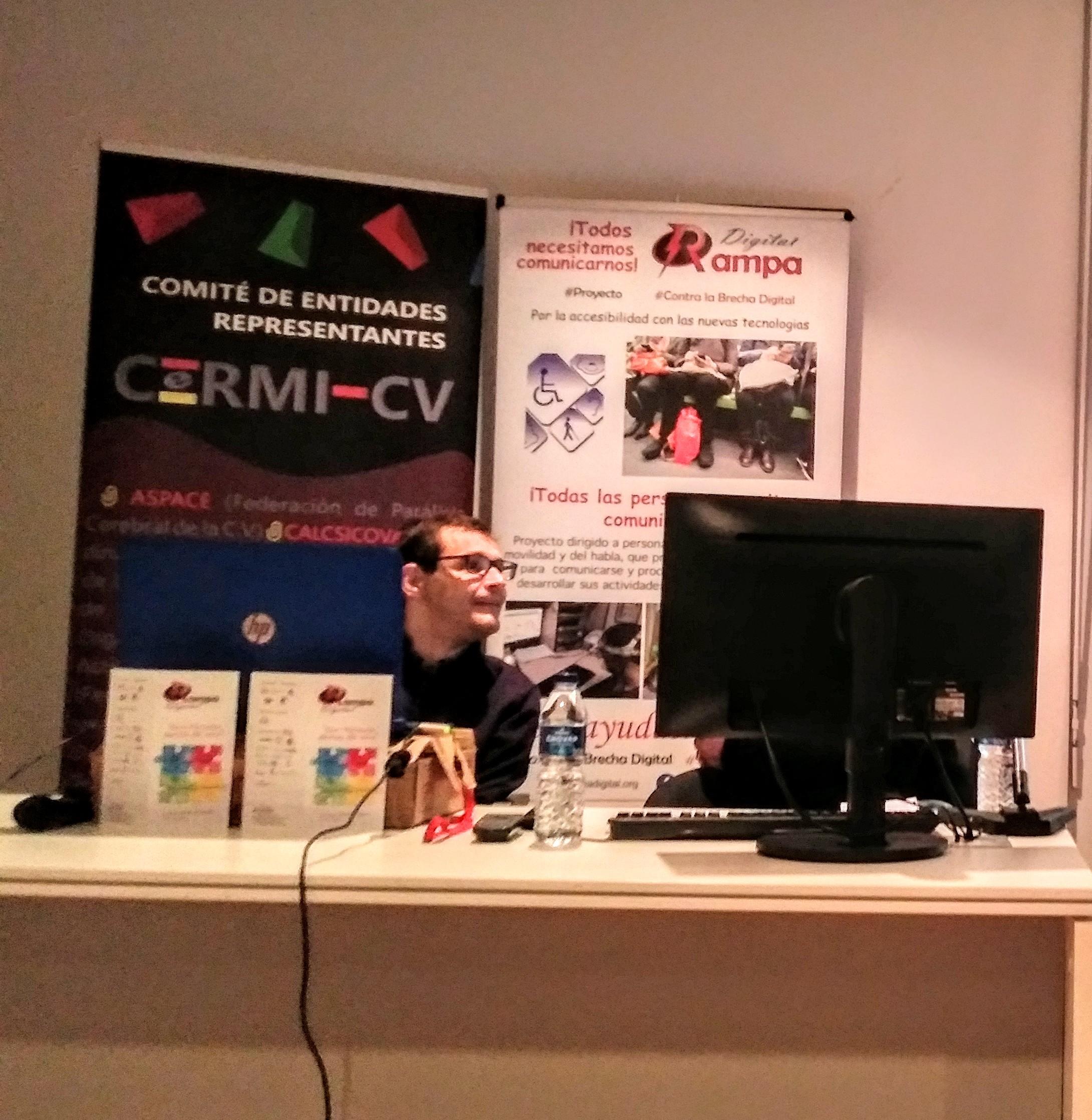 Francisco Javier Planells responsable de difusión y sensibilización del proyecto Rampa Digital