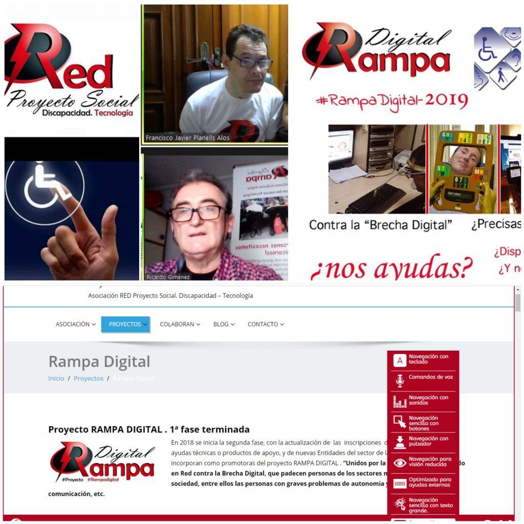 Miembros de RED Proyecto Social. promotores del proyecto rampa digital- y la web accesible con programa inSuit