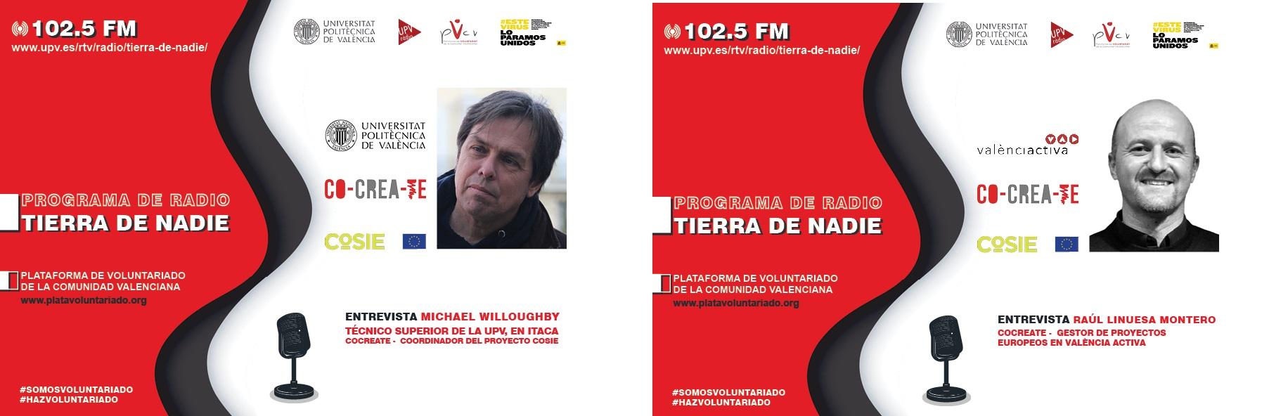 ENTREVISTA EN RADIO UPV TIERRA DE NADIE TECNICOS COCREATE