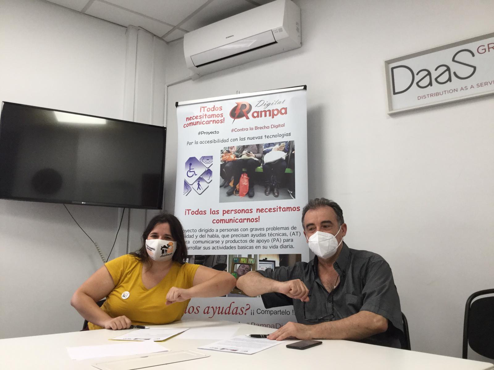 Acto firma convenio RAMPA DIGITAL