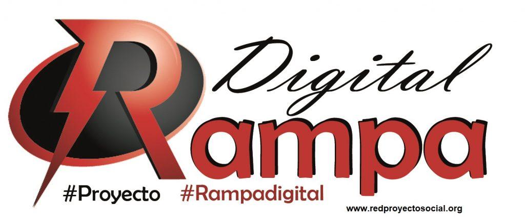 Logotipo Proyecto RAMPA DIGITAL . hashtag Proyecto - hashtag Rampa Digital - pagina web www.redproyectosocial.org