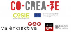 CoCreaTe_Logo Cosie_Logo Valencia Activa y UPV